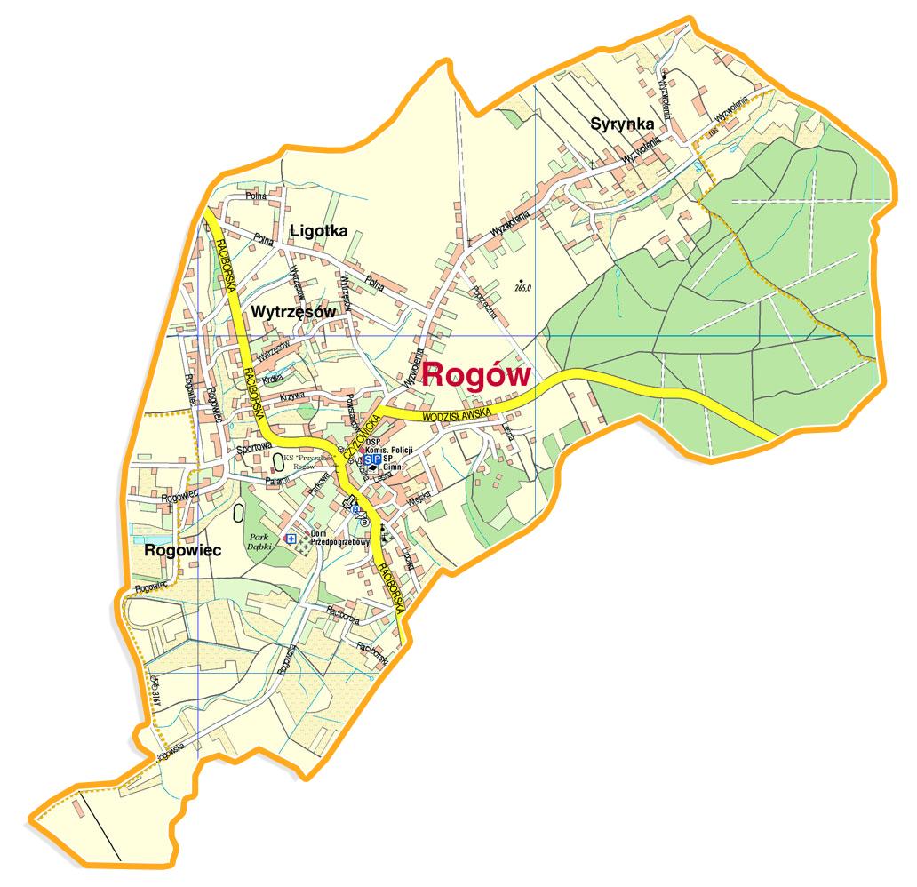 plan sołectwa Rogów